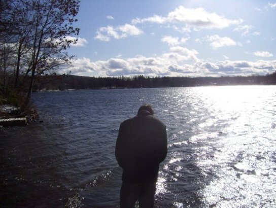 "Often referred to as the ""strong, silent type,""  Chris can be seen gazing solemly across cold lakes on windy winter evenings."